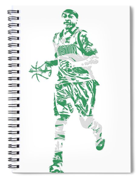 Isaiah Thomas Boston Celtics Pixel Art 17 Spiral Notebook