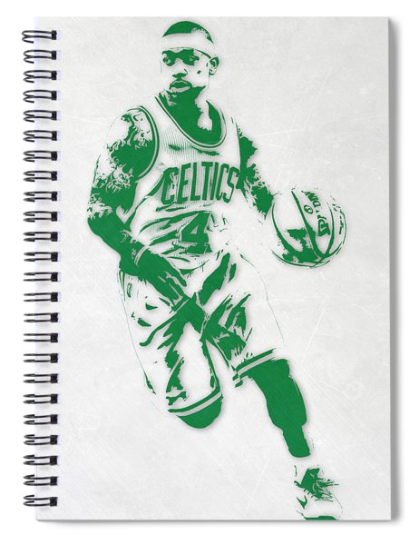 Isaiah Thomas Boston Celtics Pixel Art 2 Spiral Notebook