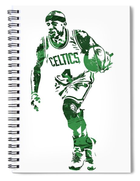 Isaiah Thomas Boston Celtics Pixel Art 4 Spiral Notebook