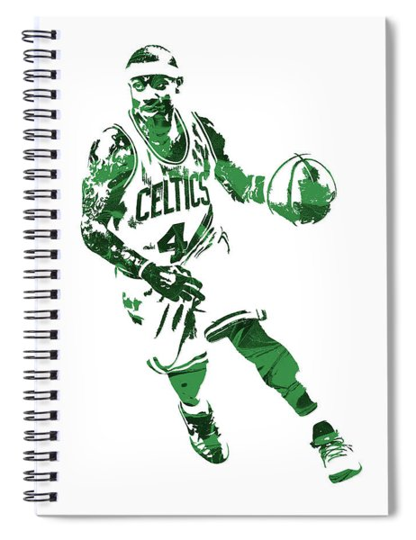 Isaiah Thomas Boston Celtics Pixel Art 6 Spiral Notebook