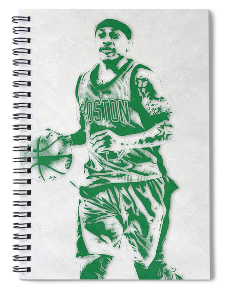 Isaiah Thomas Boston Celtics Pixel Art Spiral Notebook