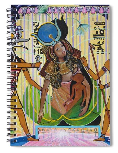 Blaa Kattproduksjoner     Presents Isis Giving Birth To Horus Spiral Notebook