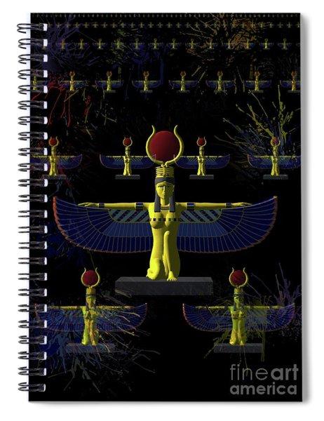 Isis - Goddess Of Egypt Spiral Notebook