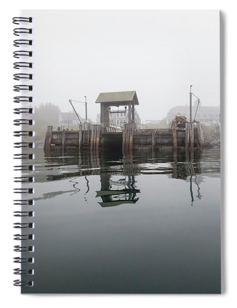 Island Boat Dock Spiral Notebook