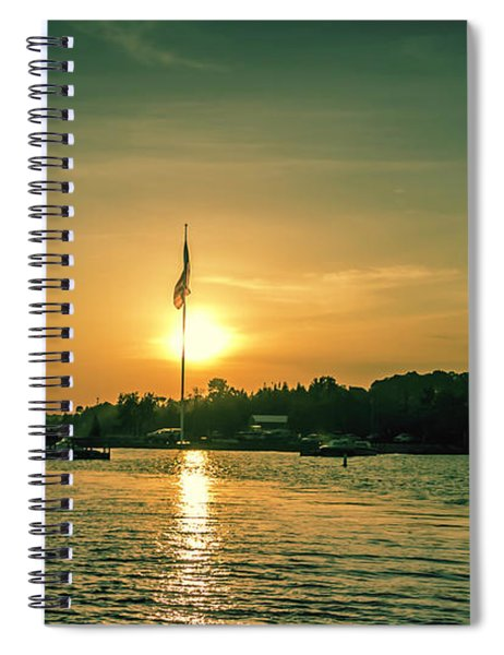 Island Harbor At Sunset Spiral Notebook