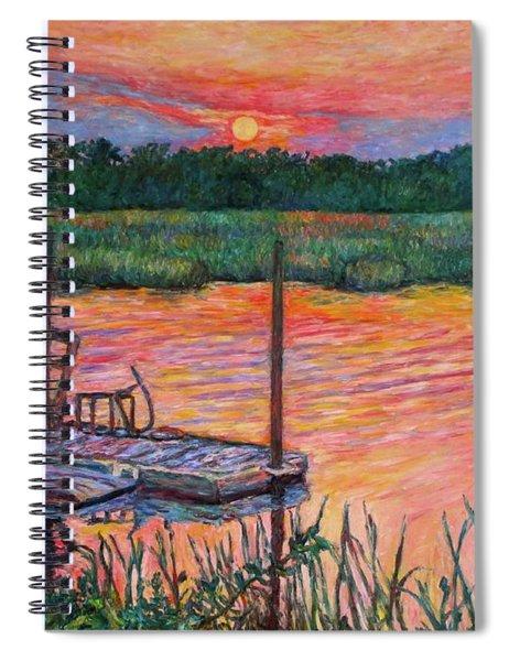 Isle Of Palms Sunset Spiral Notebook