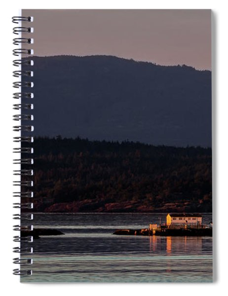 Isolated Lighthouse Spiral Notebook