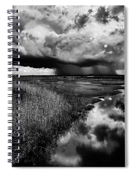 Isolated Shower - Bw Spiral Notebook
