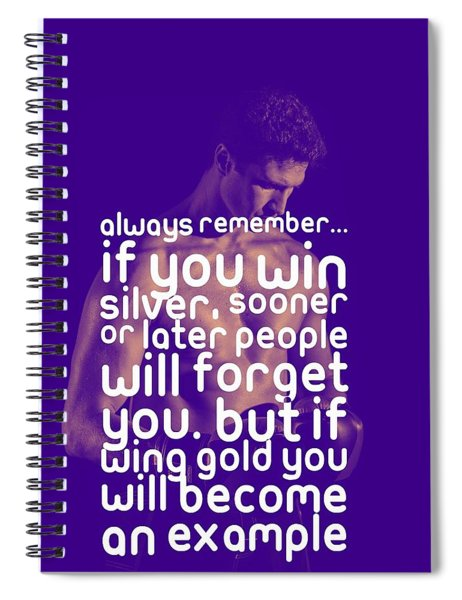 Ispirational Sports Quotes - 2 Spiral Notebook