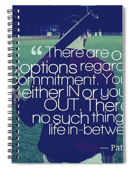 Ispirational Sports Quotes  Pat Riley Spiral Notebook