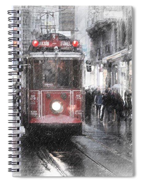 Istambool Historic Tram Spiral Notebook