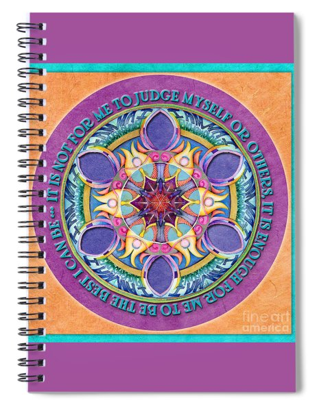 It Is Enough Mandala Prayer Spiral Notebook