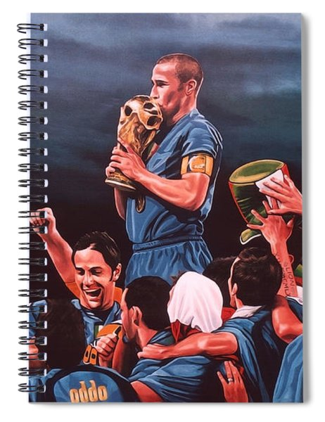 Italia The Blues Spiral Notebook