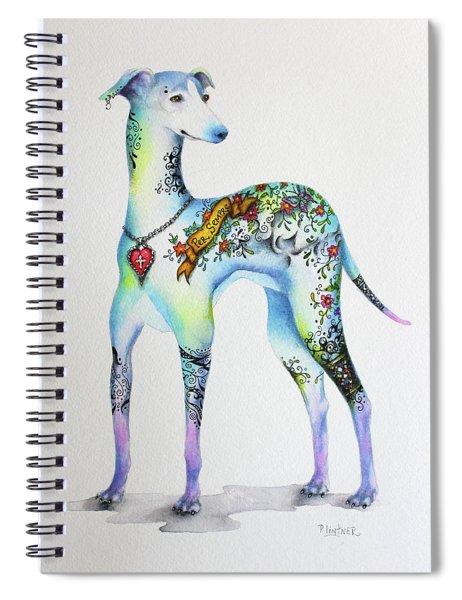 Italian Greyhound Tattoo Dog Spiral Notebook