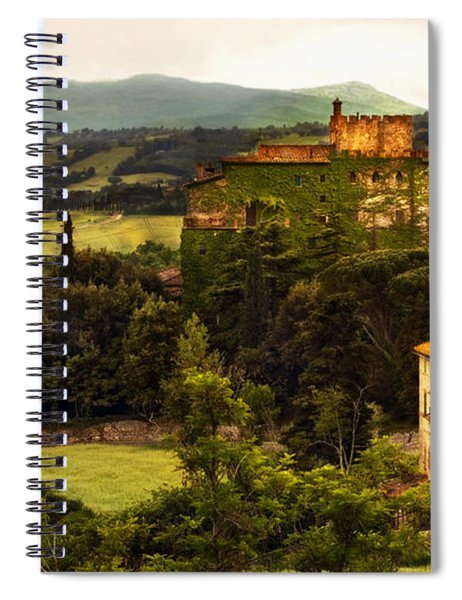 Italian Castle And Landscape Spiral Notebook