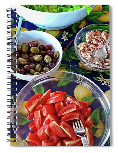 Italian Lunch - Porto Santo Stefano, Italy Spiral Notebook