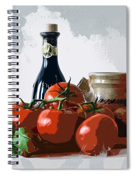 Italian Meal Prep Still Life Spiral Notebook