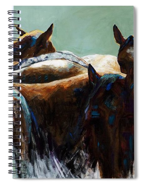 Its All About The Brush Stroke Spiral Notebook
