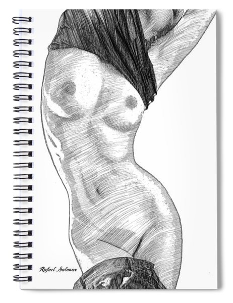 It's Too Warm For Me Spiral Notebook by Rafael Salazar