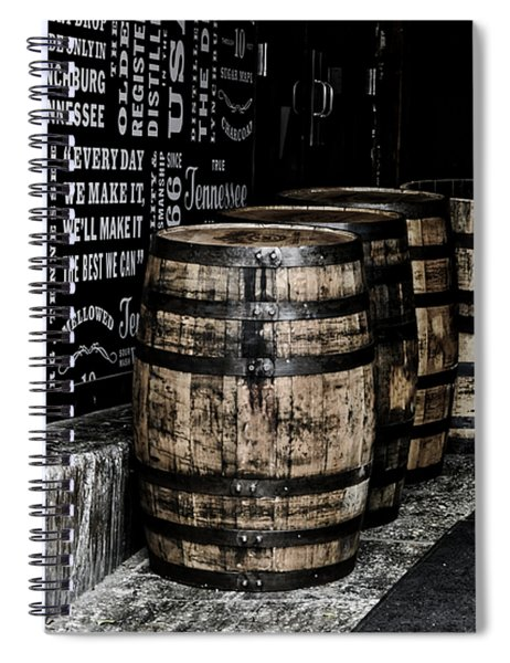 Jack Daniel's Tennessee Whiskey Barrels Spiral Notebook