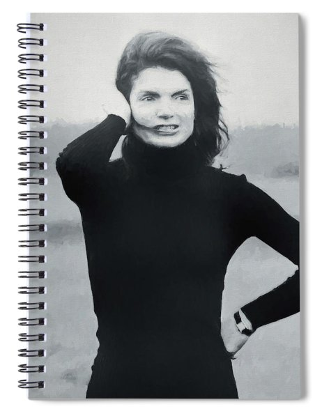 Jackie Kennedy - Painting Spiral Notebook