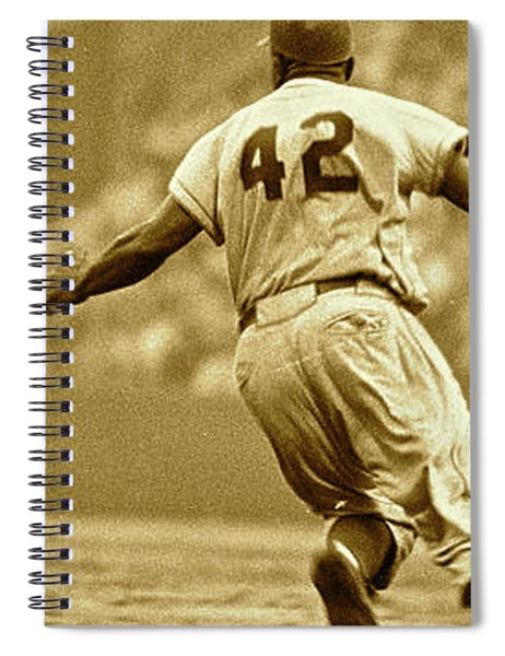 Jackie Robinson, Number 42, Brooklyn Dodgers Spiral Notebook