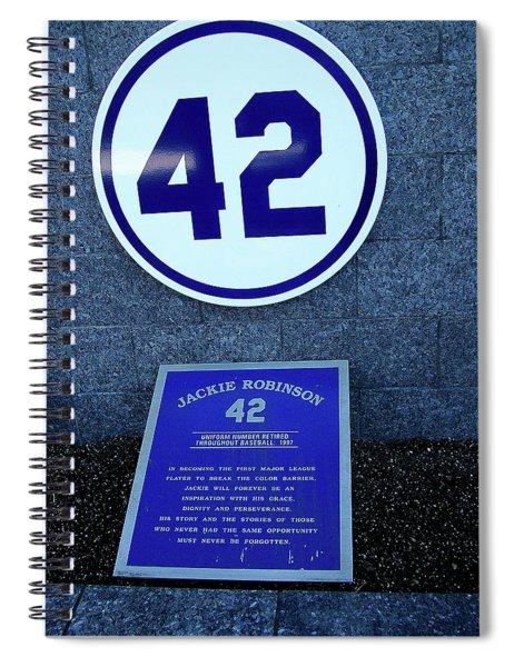 Jackie Robinson Plaque At Yankee Stadium Spiral Notebook
