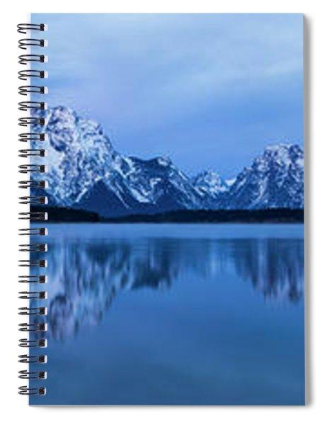 Jackson Lake Panorama Spiral Notebook