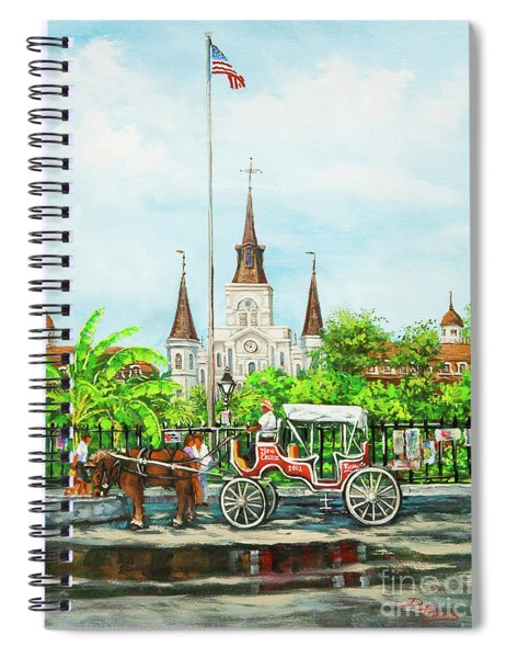 Jackson Square Carriage Spiral Notebook