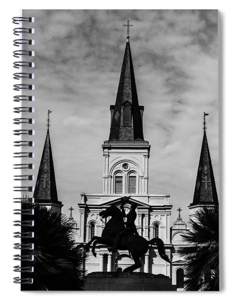 Jackson Square - Monochrome Spiral Notebook