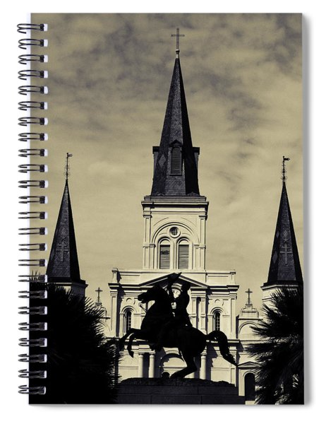 Jackson Square - Split Tone Spiral Notebook
