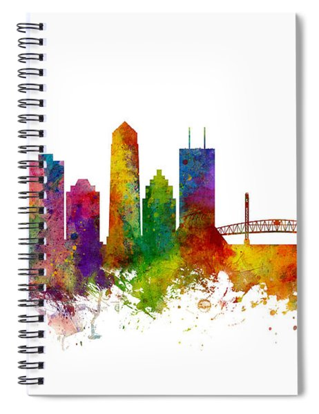 Jacksonville Florida Skyline Spiral Notebook