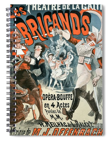 Jacques Offenbach  Les Brigands Vintage Poster Spiral Notebook