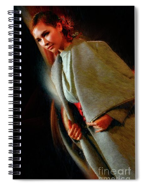 Jade Fashion Grey Jacket Beauty Spiral Notebook