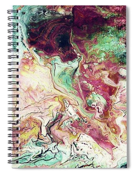 Jade Rhapsody - Abstract Art By Linda Woods Spiral Notebook