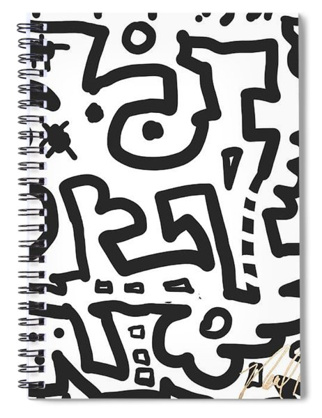 Jagged Hearts Rising Spiral Notebook