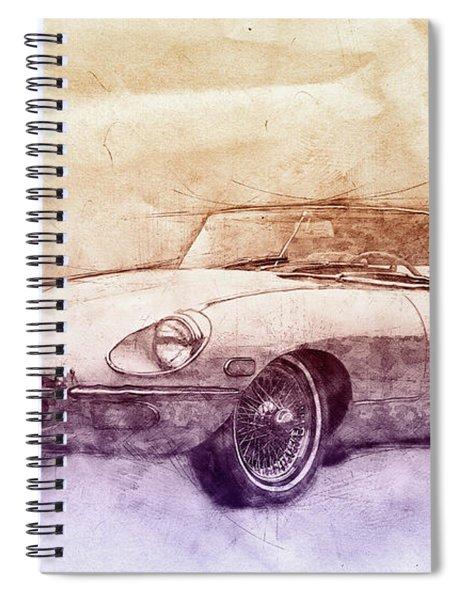 Jaguar E-type 2 - Jaguar Xk-e - Sports Car - Automotive Art - Car Posters Spiral Notebook
