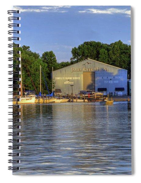 James River Marina 2 Spiral Notebook