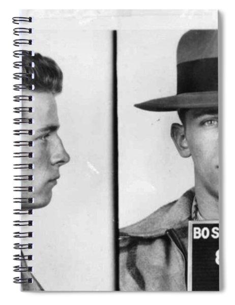 James Whitey Bulger Mug Shot 1953 Horizontal Spiral Notebook