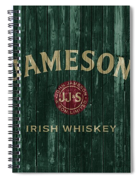 Jameson Irish Whiskey Barn Door Spiral Notebook