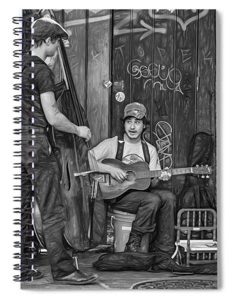 Jammin' In The French Quarter 2 - Paint Bw Spiral Notebook