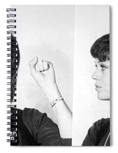 Jane Fonda Mug Shot Horizontal Spiral Notebook