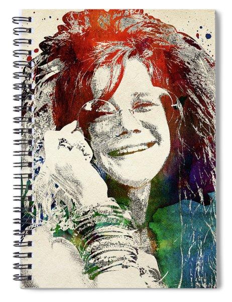 Janis Joplin Portrait Spiral Notebook