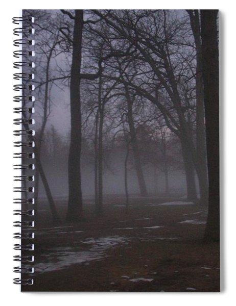 January Fog 2 Spiral Notebook