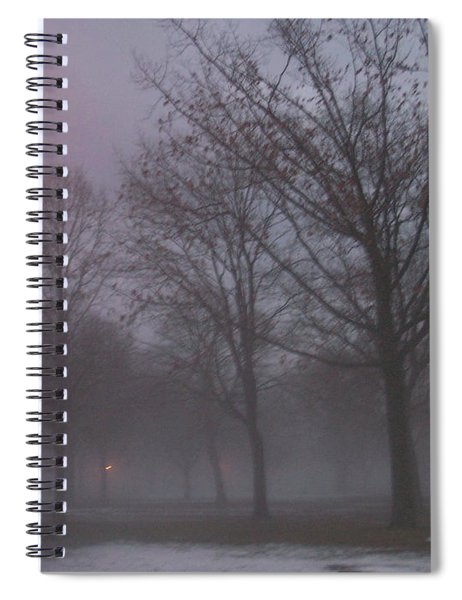 January Fog 3 Spiral Notebook