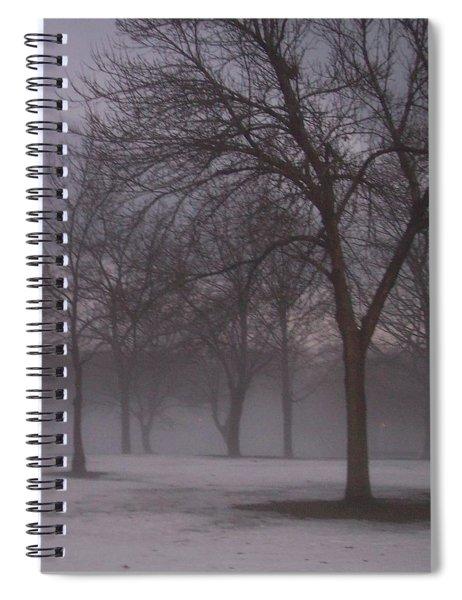 January Fog 4 Spiral Notebook