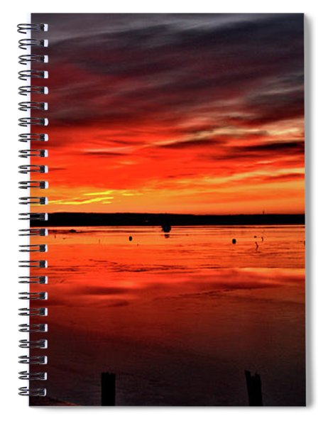 January Sunrise Onset Pier Spiral Notebook