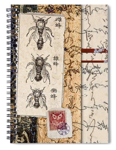 Japanese Bees Spiral Notebook