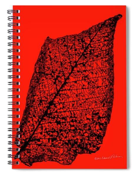 Japanese Beetle Artwork Leaf Spiral Notebook by Edward Peterson
