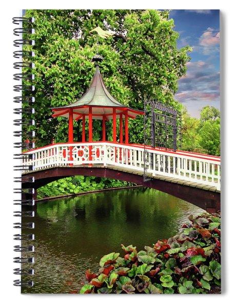 Japanese Bridge Garden Spiral Notebook